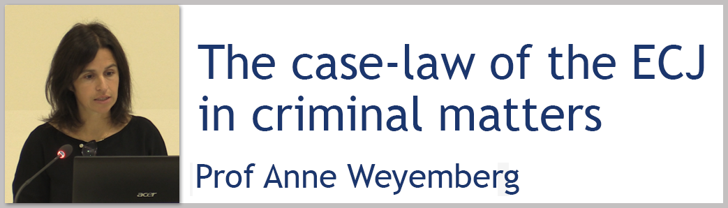 Presentation of Prof Anne Weyembergh